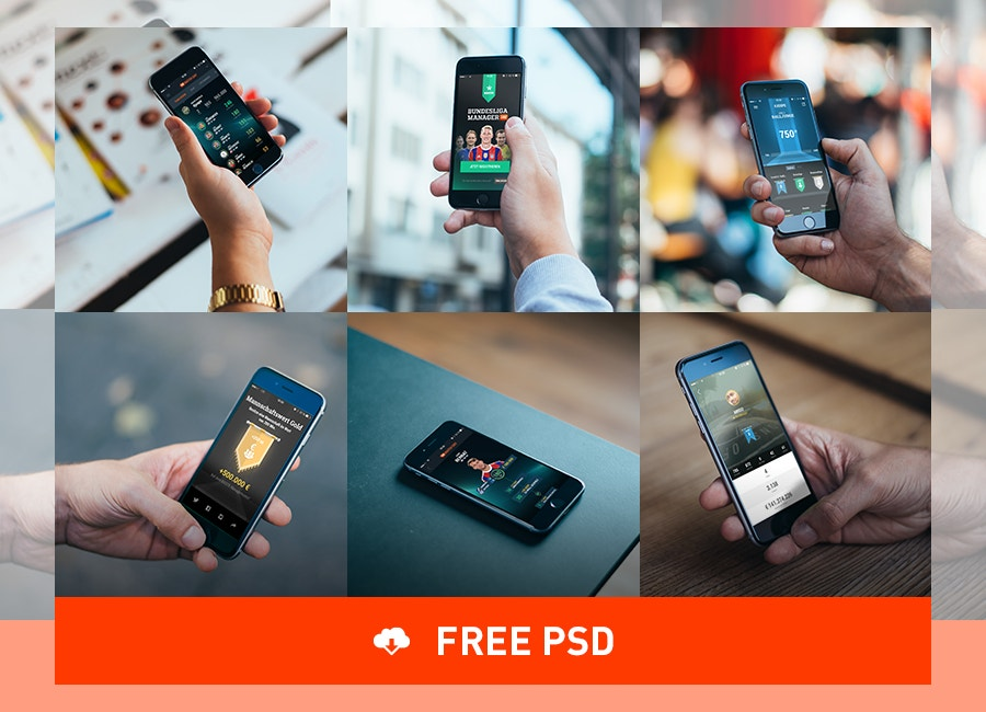 free iphone 6 mockups psd download