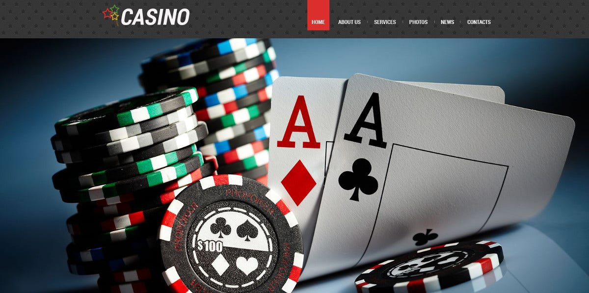 Poker Responsive WordPress Website $53