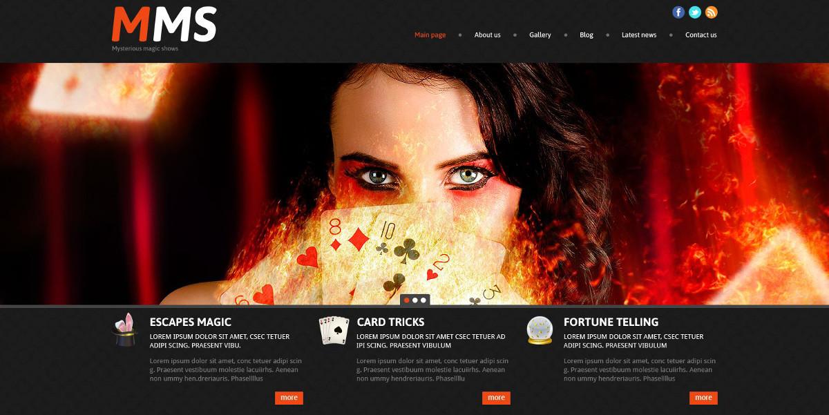 Poker Menu WordPress Website $53