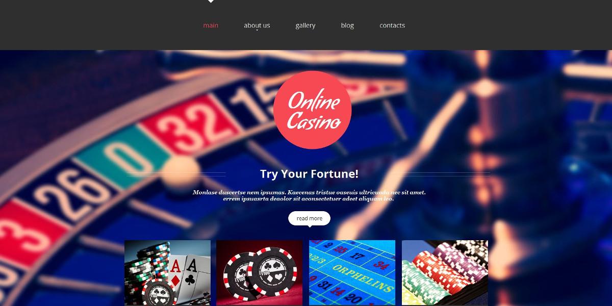 Poker Moto CMS HTML Website $97