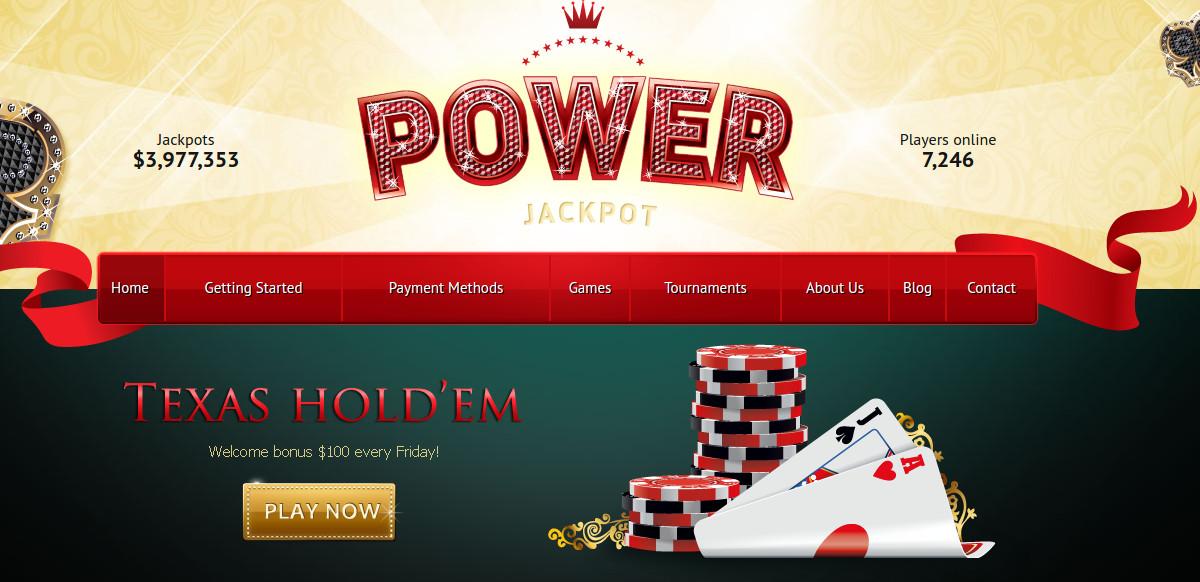 Poker Jackpot HTML Website $17