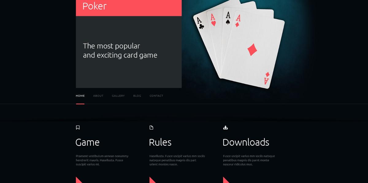 Online Poker Joomla Responsive Website $53