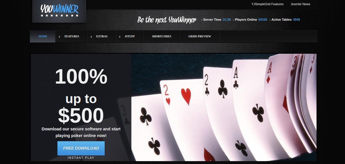 Poker Gambling Joomla Website