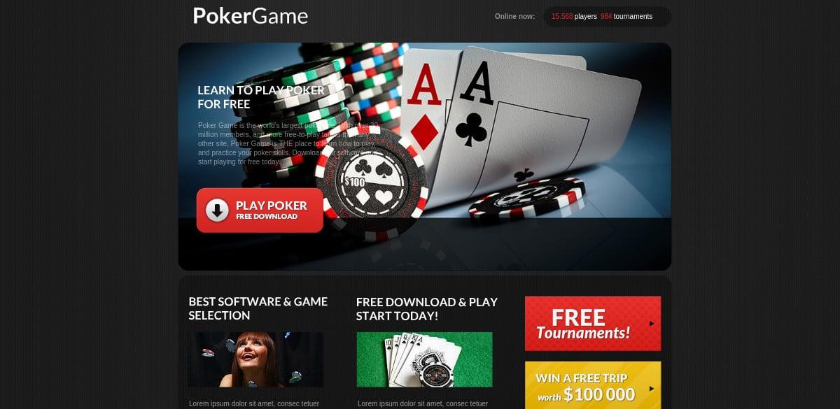 Poker Game Flash CMS Website
