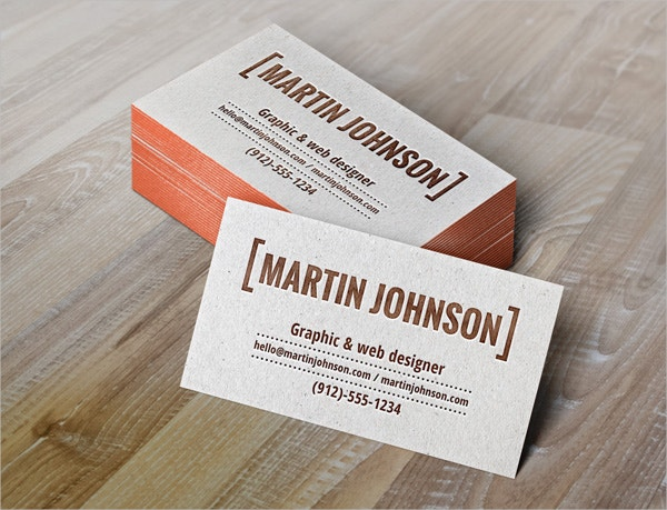 Letterpress Free Business Card