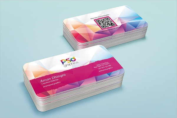 Rounded Business Card Free Template