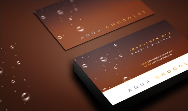 Free Business Card PSD With Bubbles