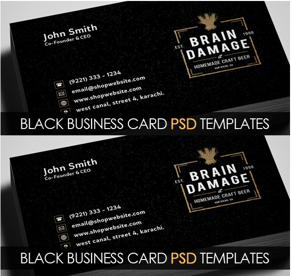 25 business cards free psd vector eps png format download free vintage black business card psd template fbccfo Choice Image