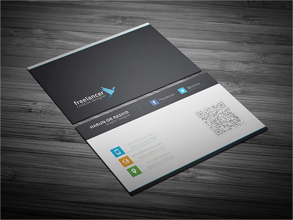 clean creative free business card