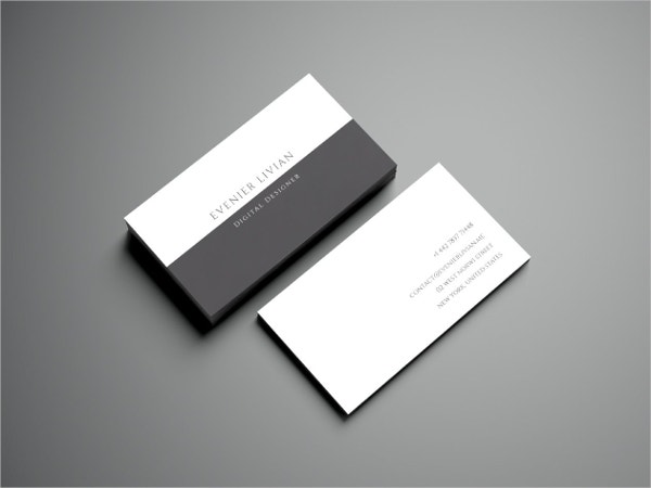 minimal business card free template