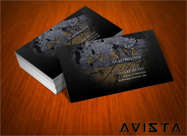 Free Avista Business Card