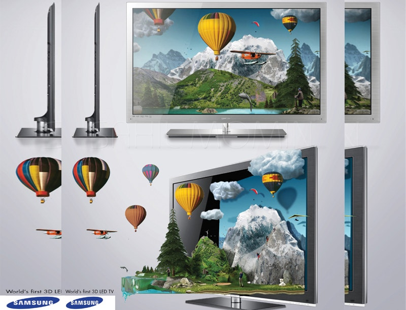samsung 3d led advertising design