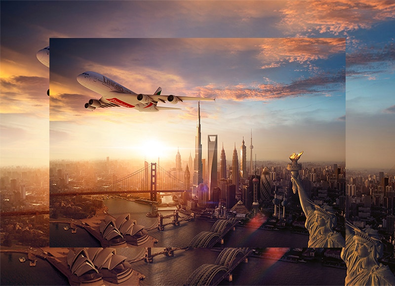 fly emirates creative add design