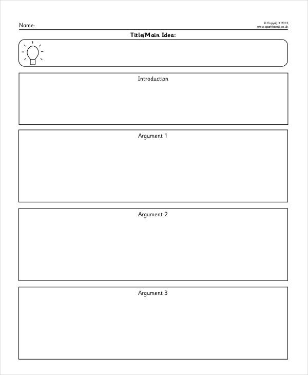 persuasive writing template