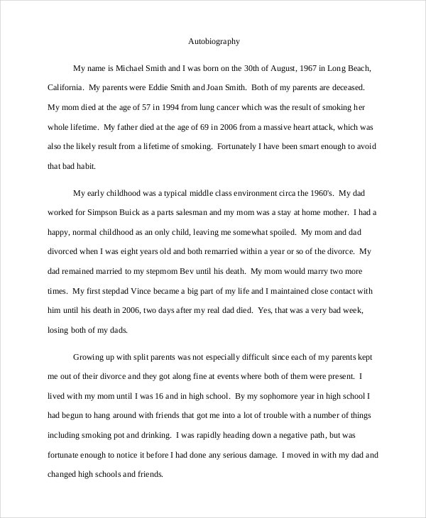 Essay Examples For High School  Essays Topics For High School Students also Essay Writing Examples For High School  Autobiography Examples  Pdf Doc  Free  Premium Templates Essay On How To Start A Business