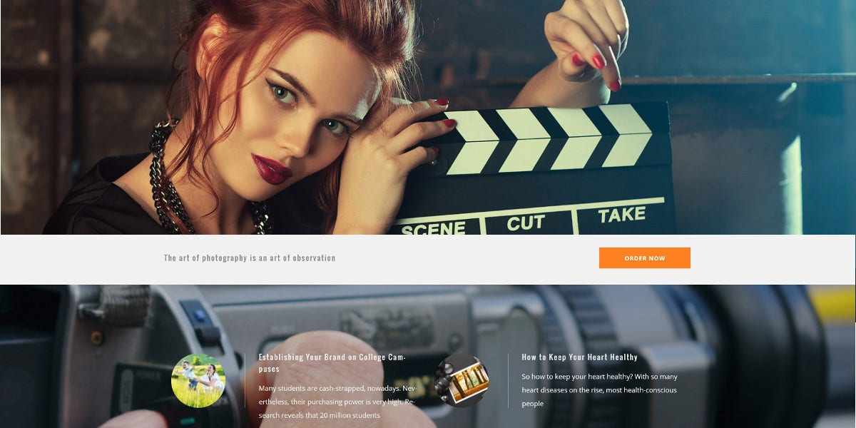 Premium Photography WordPress Website Theme $79