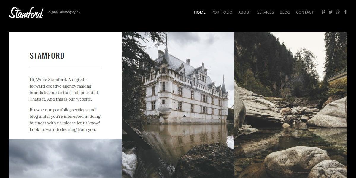 creative photography portfolio website theme 49