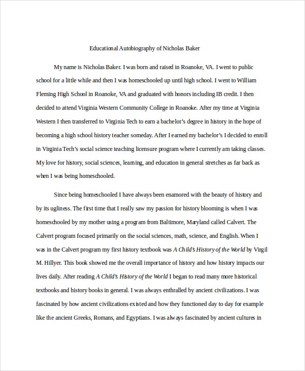 Essay On Pollution In English  Autobiography Example Free Premium Templates  English Essay Structure also Essay About Business Example Of Autobiography  Underfontanacountryinncom Essays About English