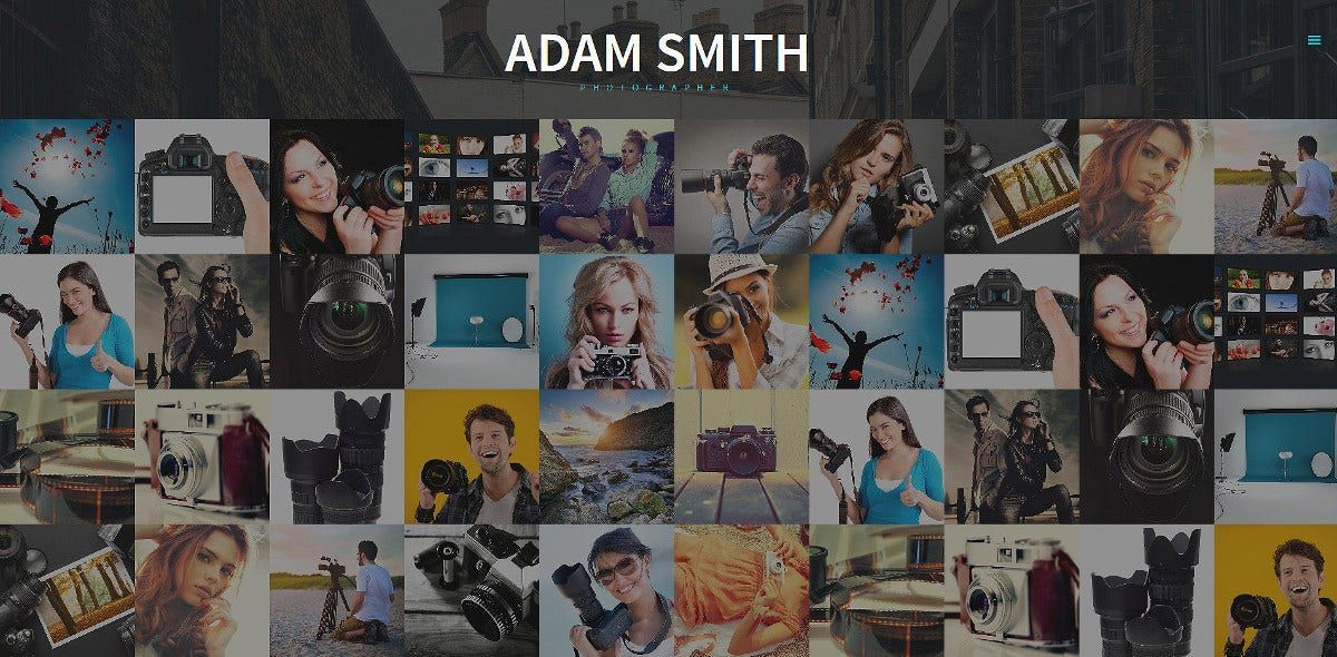 Best Photographer Portfolio Joomla Website Template $75