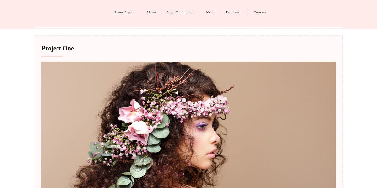 Feminine Photography WordPress Website Theme $60