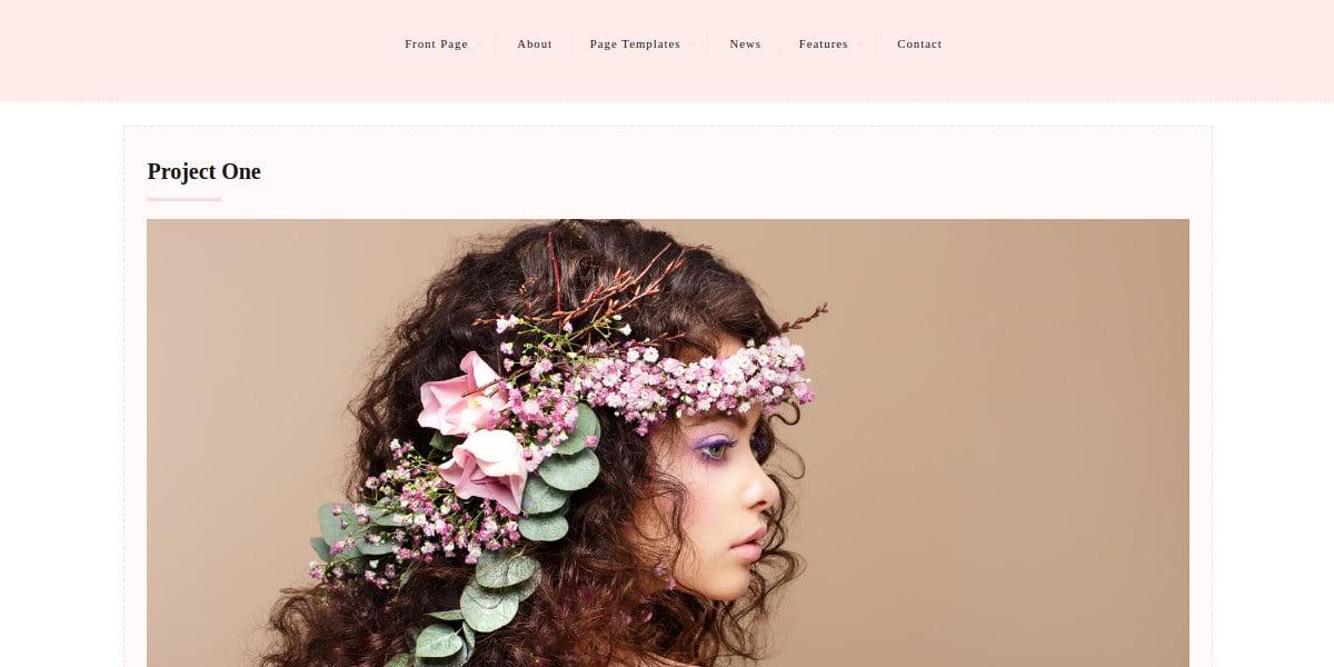 feminine photography wordpress website theme 60