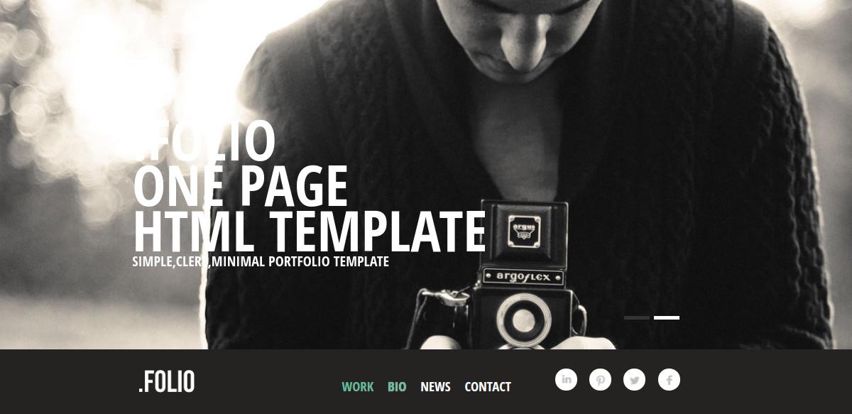 photographer portfolio website template1