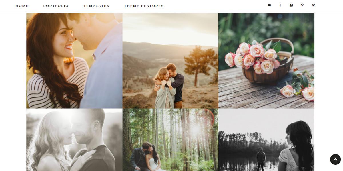 minimal photography wordpress website theme 451