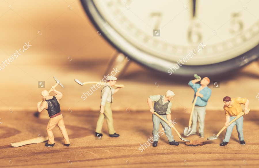 vintage-miniature-art-of-workers
