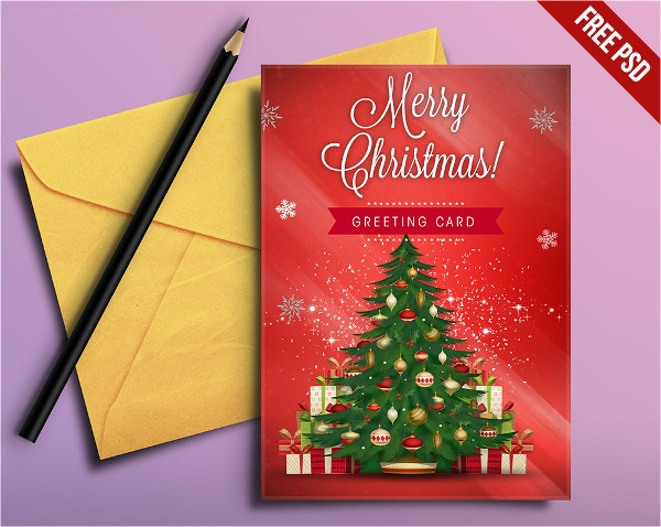 Free PSD Christmas Greeting Card