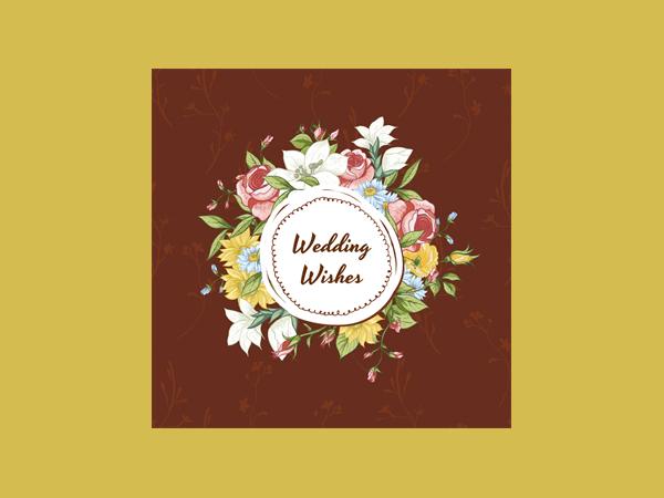 Printable Wedding Greeting Card
