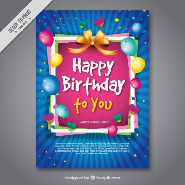 Birthday Cards - 18+ PSD, AI, EPS Format Downloads | Free ...
