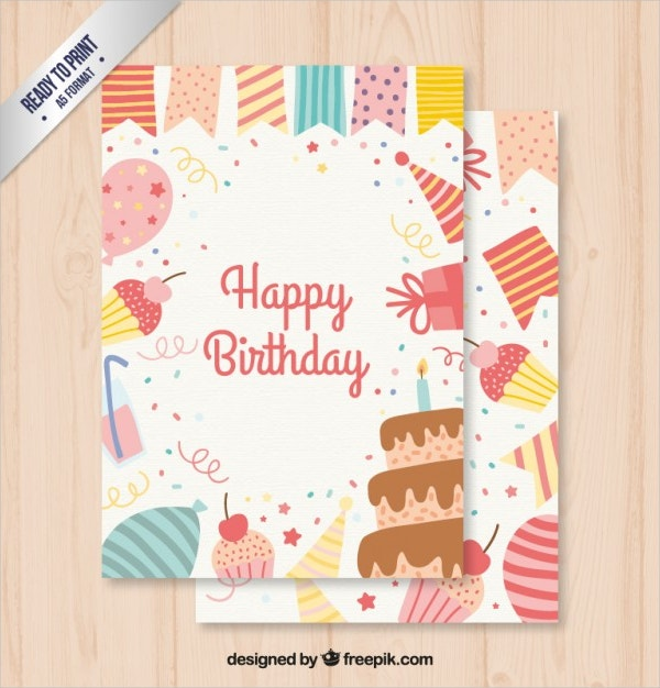 Birthday Cards 18 PSD AI EPS Format Downloads – Birthday Cards to Print for Free