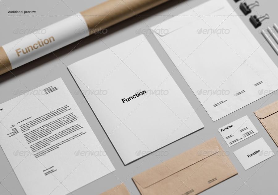 realistic branding stationery envelope