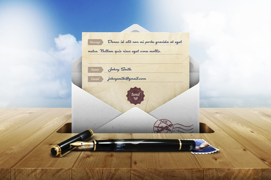 contact-form-envelope-mockup