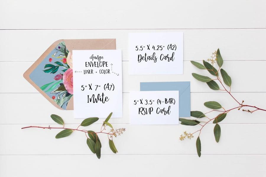 wedding suite envelope mockup