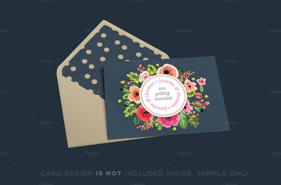 editable envelope mockup