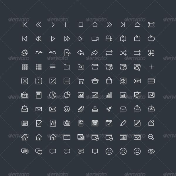 400 fine line icons