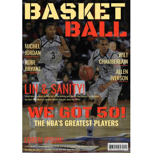 basketball player magazine cover template