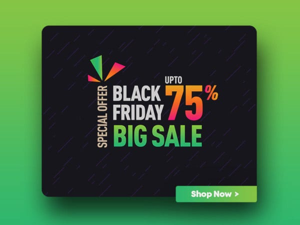 black friday discount offer design