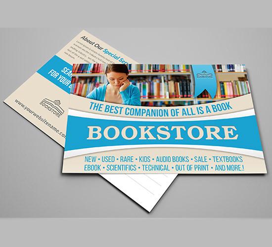 bookstore postcard template