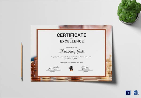 Chess certificates 8 word psd format download free premium chess appreciation certificate yelopaper Images