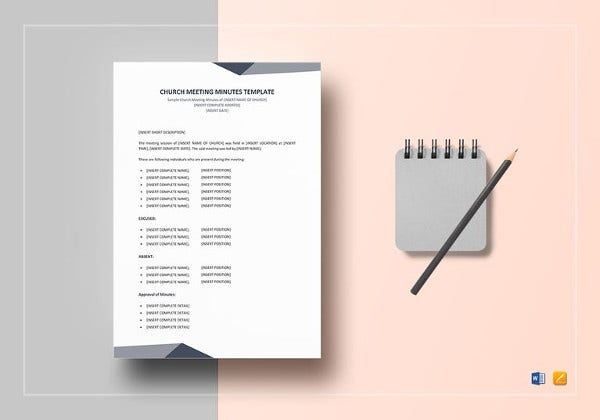 church meeting minutes template to print