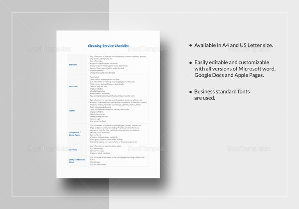 Cleaning checklist 23 free word pdf psd documents download cleaning service checklist template in excel thecheapjerseys Images