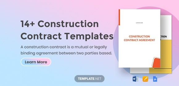 Construction Contract Template 14 Word Pdf Apple Pages