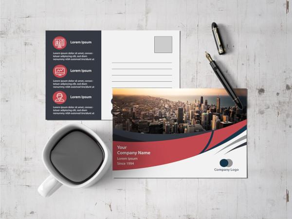 corporate postcard template1