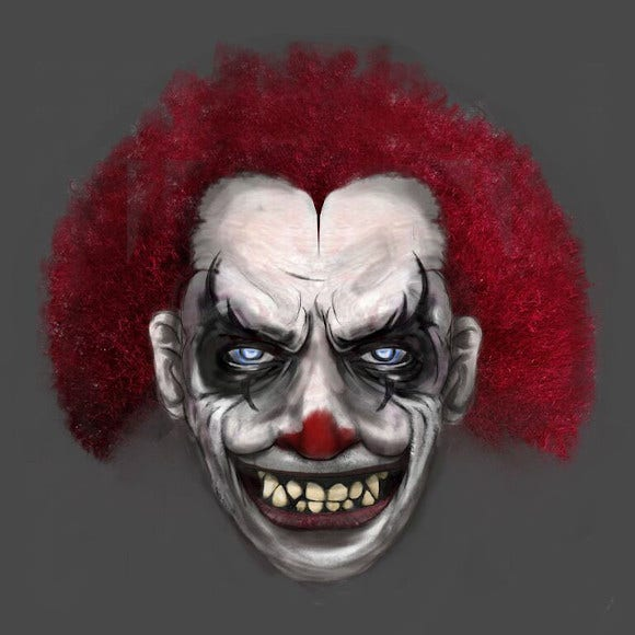 creepy clown mask design