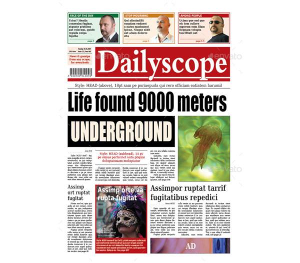 dailyscope newspaper template