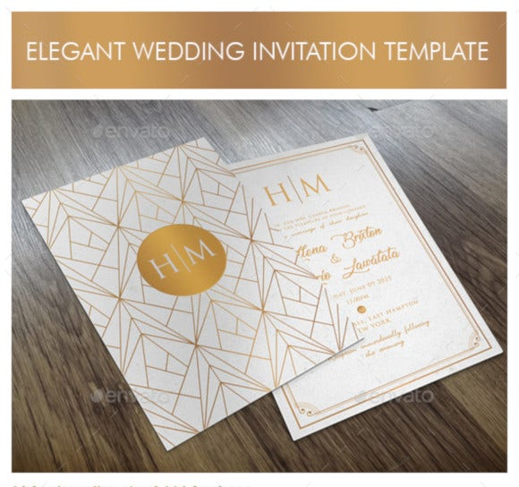 elegant wedding invitation template1