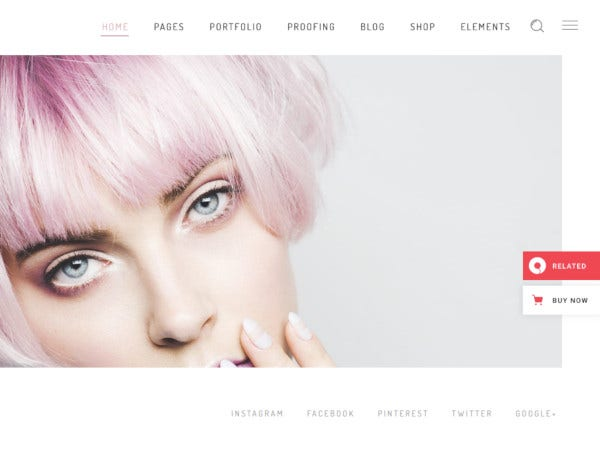 fashion photography theme