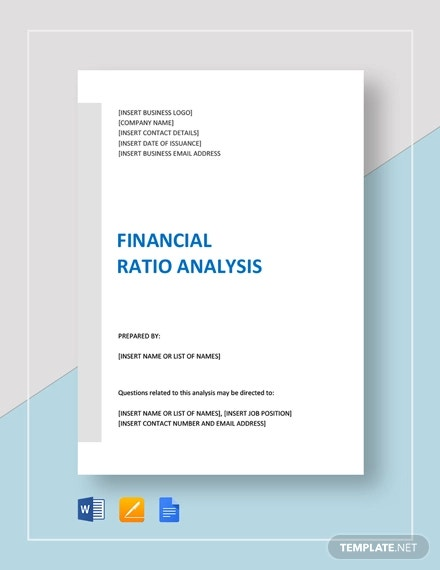 financial ratio analysis template